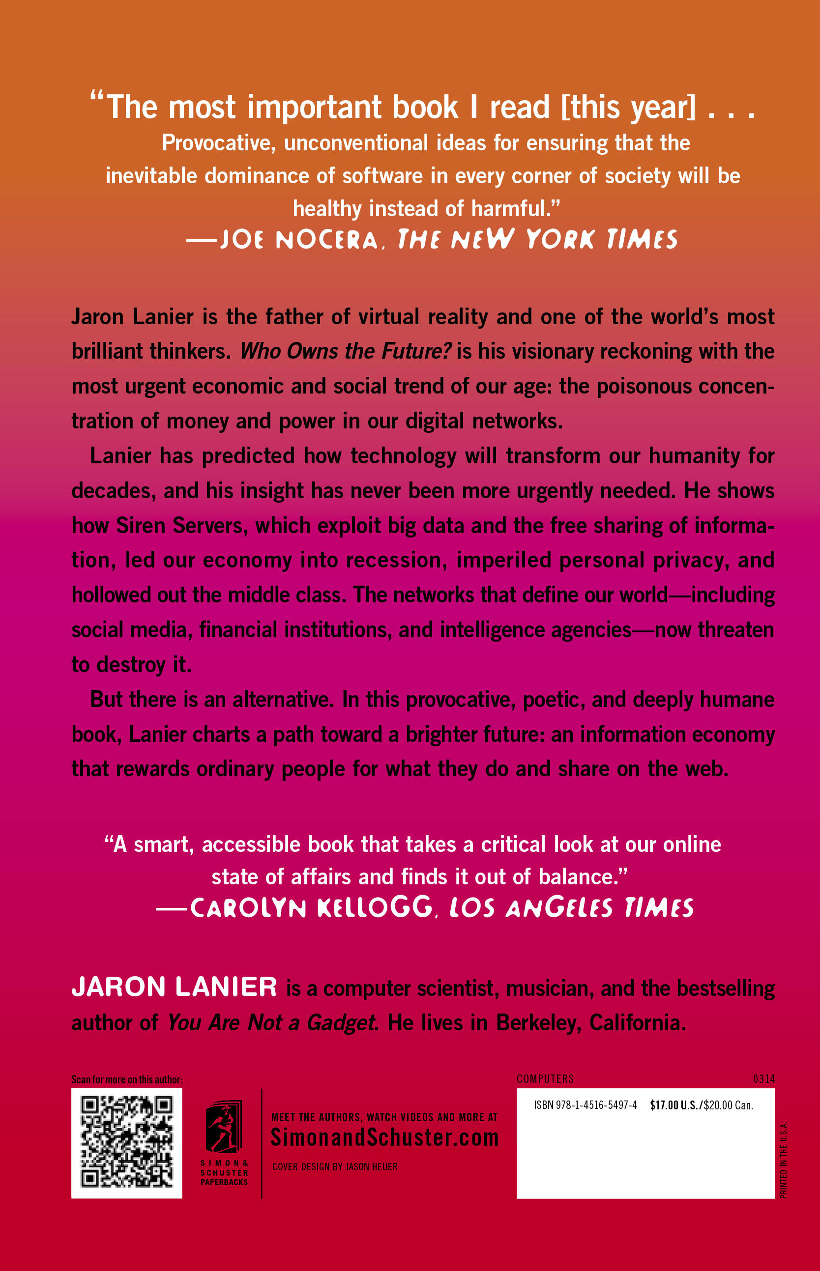 Paperback Edition Back Cover